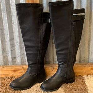 Torrid double strap tall boots